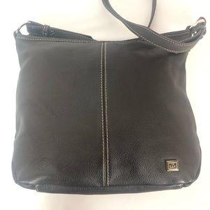 The Sak Pebbled Brown Leather Hobo Handbag